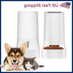 Automatic Pet Food Water Dispenser Dog Cat Feeder Waterer Au