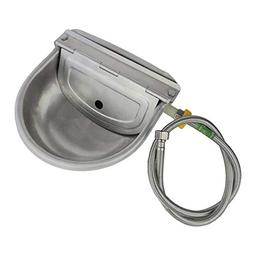 Lucky Farm Automatic Water Feeder Trough Bowl with Pipe for