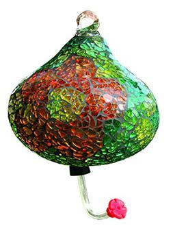 Gardman BA05726 Green Teardrop Mosaic Glass Hummingbird Feed