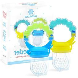 Baby Feeder for Boys 2 Pack, Grab n' Shake Rattle Teething