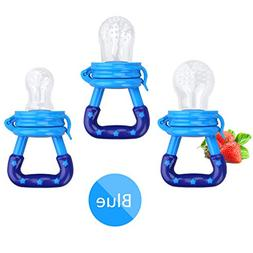 Baby Food Feeder 3 Pack Fresh Fruit Silicone Nipple Teething