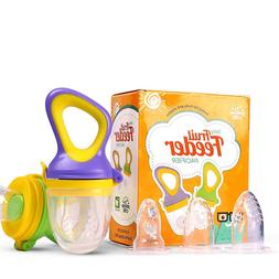 Yellow Crib Baby Food, Fresh Fruit Feeder Pacifier  3 Extra
