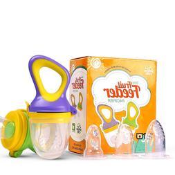 Yellow Crib Baby Food, Fresh Fruit Feeder Pacifier  3 Extra