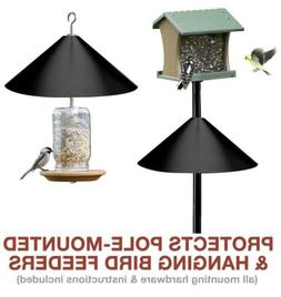 Squirrel Stopper Bird Feeder Pole Hanging Raccoon Baffle Out