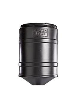 On Time Wildlife Feeders Barrel Only, 150 Lb, Black, 603