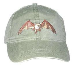 Bat Embroidered Cotton Cap