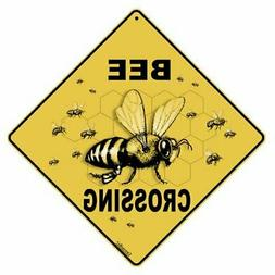 "Bee Crossing 12"" X 12"" Aluminum Sign"
