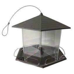 Bird Feeder 6 Ports Metal 10 lb Seed Capacity Convenient Por