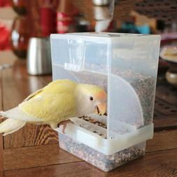 Bird Feeder Automatic Cage Accessories No Mess Grain Seed St