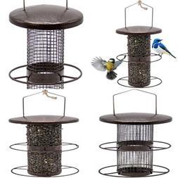 Bird Feeder – Circular Perch Hanging For Finches Seed & Mo
