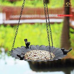 Kimdio Bird Feeder Hanging Tray, Seed Tray for Bird Feeders/