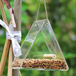 Bird Feeder Squirrel Proof Outdoor Garden Seed Food Containe