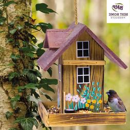 Bird Feeder Wood Garden Hanging House Nature Lovers Bed & Br