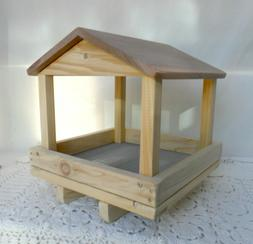 Handcrafted  Bird Feeder * Wooden Tray Bird Feeders * 12 x 1