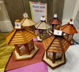 Bird Feeders choose your colors!! Gazebo Hand Painted Treate