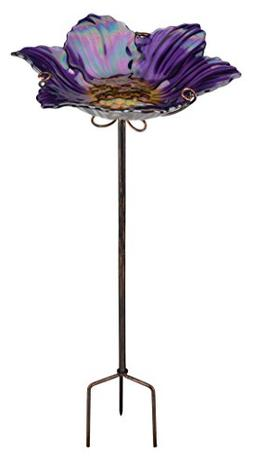 Regal Birdbath/Feeder W/Stake - Purple