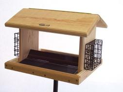 Birds Choice 11 Qt 2-Sided Cedar Wood Hopper Bird Feeder w/
