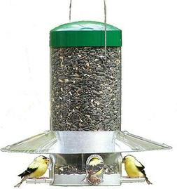 Birds Choice - Hanging 12 inch Classic Bird Feeder with Baff