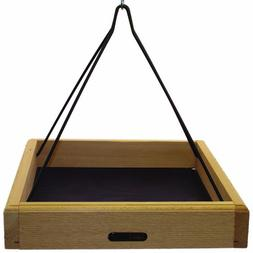 Birds Choice Cedar 17 Inch X 14 Inch Hanging Tray with Steel