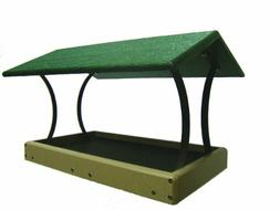 Birds Choice Recycled Fly-Thru Bird Feeder - Green Roof
