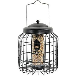 Sunnydaze 12 Inch Black 4-Peg Squirrel-Proof Wild Bird Feede