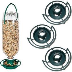 Bottle Bird Top Feeder Seed Green Tube Dome New Easy Wild Bi