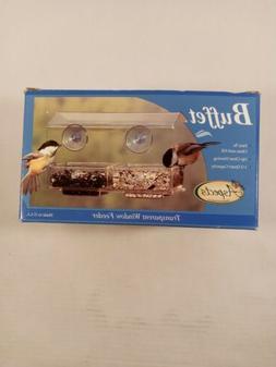 ASPECTS BUFFET BIRD FEEDER TWO TRAY SEED WINDOW BIRD FEEDER
