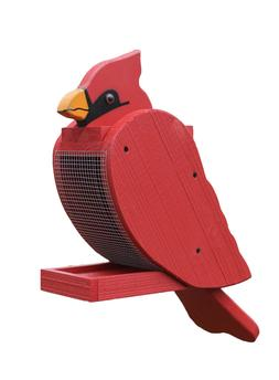 Cardinal Feeder Amish Handcrafted wood
