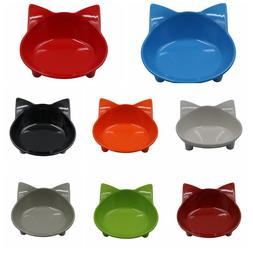 Cat Face Shape Feeder Non-Slip Bowl Food Water Dish For Smal