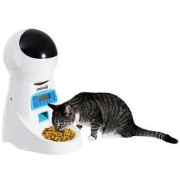 Pet Dog Cat Feeder Animal Food Bowl Auto Dispenser Timer Pro