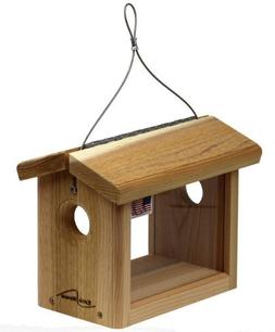 Kettle Moraine Cedar Hanging Bluebird Mealworm Feeder