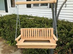 Cedar Porch Swing Outdoor Bird Feeder