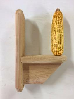 Cedar Squirrel Feeder, Handmade Corn Feeder