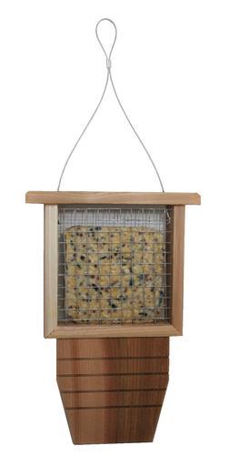 cedar suet bird feeder