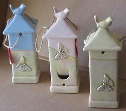 Ceramic Bird Feeder Arts & Crafts Chickadee Love Birds Butte