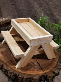 Chick-nic or chicknic Picnic Table / Squirrel feeder table