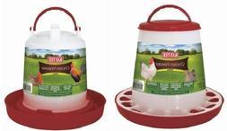 Kaytee Chicken Feeder Medium Hold up to 5lbs of Feed  Asst C