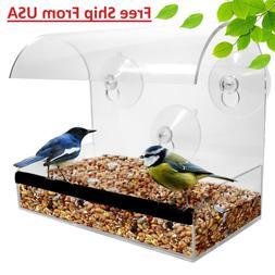 Clear Window Bird Feeder Feeding Squirrel Birdhouse With Suc