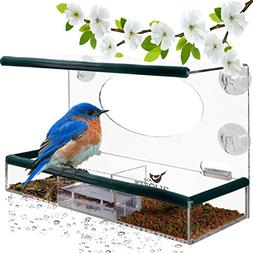 Birdious Wild Window Bird Feeder for Outside: Enjoy Unique W