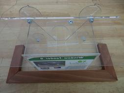 clear window mounted bird feeder