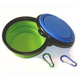 Comsun Collapsible Dog Bowl,Food Grade Silicone BPA,Foldable