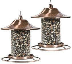 copper panorama wild bird feeder