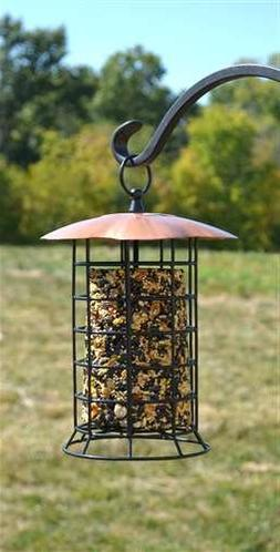 Songbird Essentials Copper Roof Suet Log Feeder