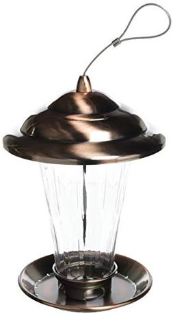 Stokes Select Copper Sedona Birds Feeder with Metal Roof, Br