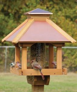 WOODLINK COPPERTOP GAZEBO SEED FEEDER STYLISH OUTDOOR DECOR