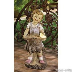 country Girl kid garden SOLAR light Outdoor rustic lamp STAT