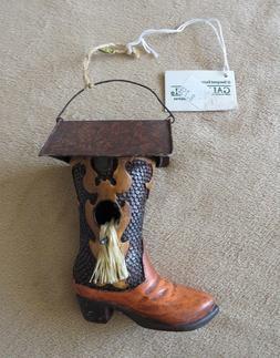 Cowboy Boot Bird Feeder Gallerie House country woodland resi