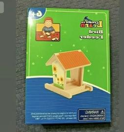 Create & Learn Bird Feeder Ages 6+ w/Stickers, Wood Parts, H