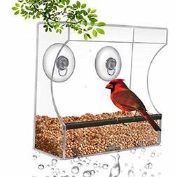 crystal clear bird feeder