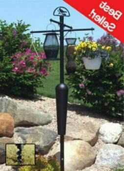 Squirrel Stopper DELUXE Black Bird feeder Pole set w Baffle